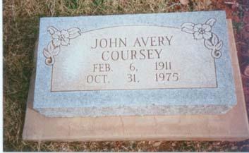 John Coursey Tombstone Marker