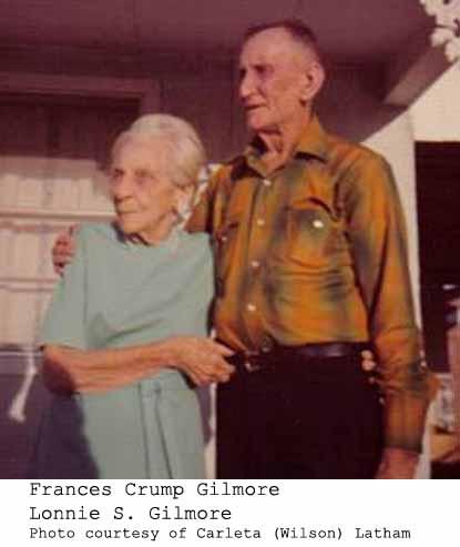 Lonnie Samuel Gilmore and Bessie Abigail Neatherland Gilmore