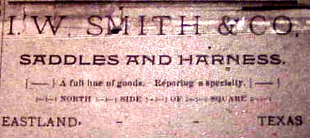 Ad--I. W. Smith saddles
