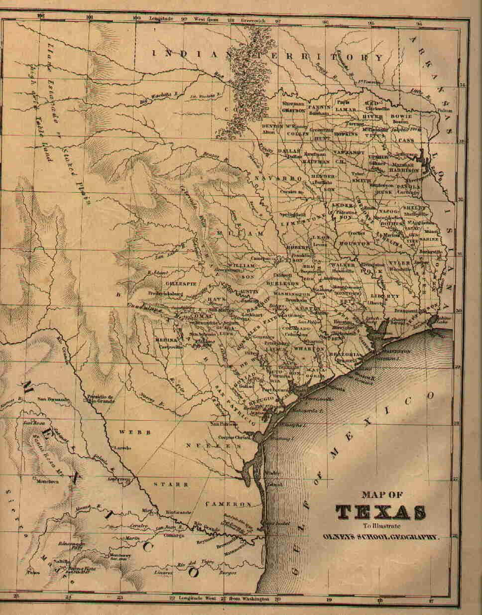 Maps of Fannin County, & Texas