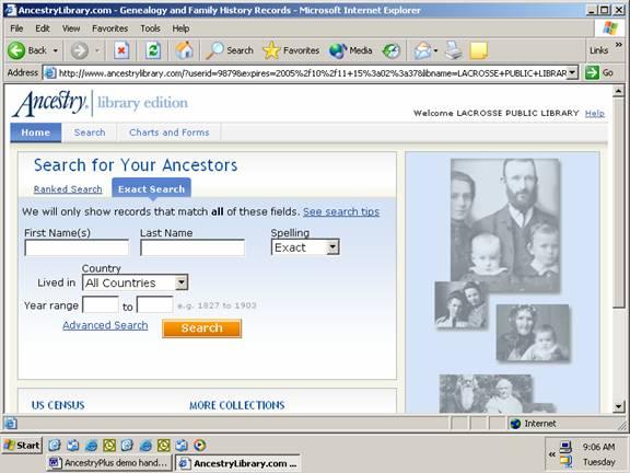 AncestryPlus demo