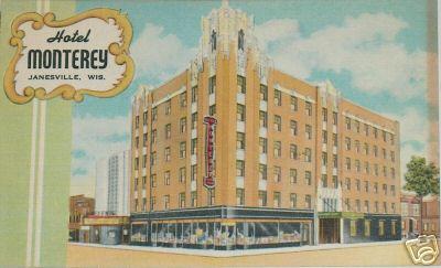 Undated Hotel Monterey Janesville Wi Postcard