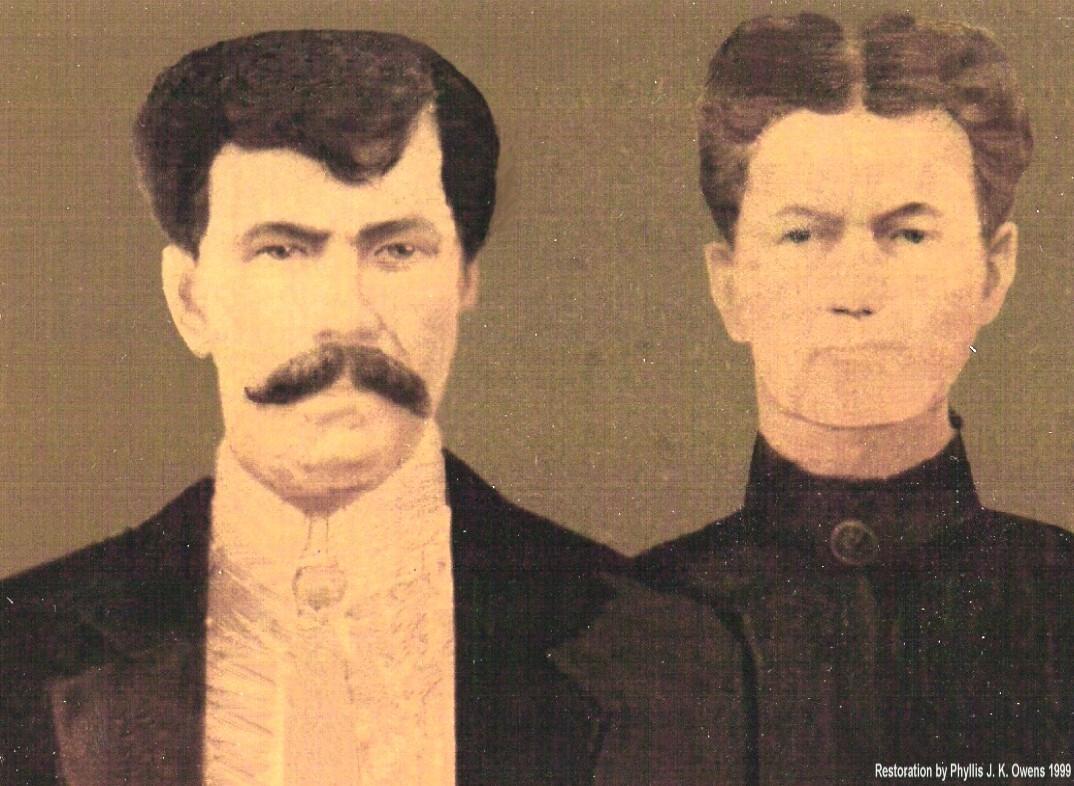 My Great-Great Grandparents, James Jefferson Thomas and Susan Matilda TRAMMEL Thomas (1890).....