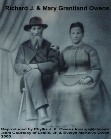 My Great-Great Grandparents, Richard J. and Mary GRANTLAND Owen (ca1900).....