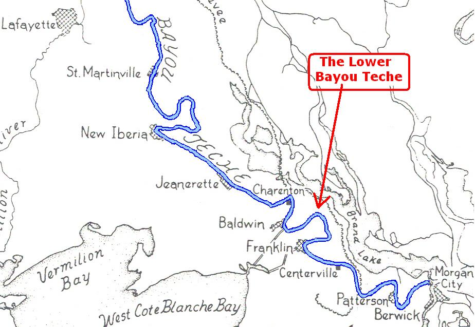 Map Of Louisiana Bayou.Evan Bowles Of St Marys Parish Louisiana