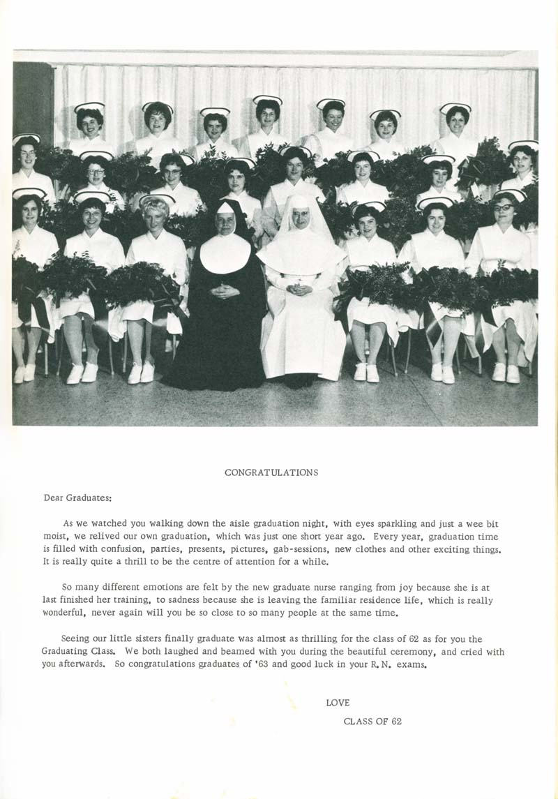 St Joseph School Of Nursing >> St Joseph S School Of Nursing 1962 1963
