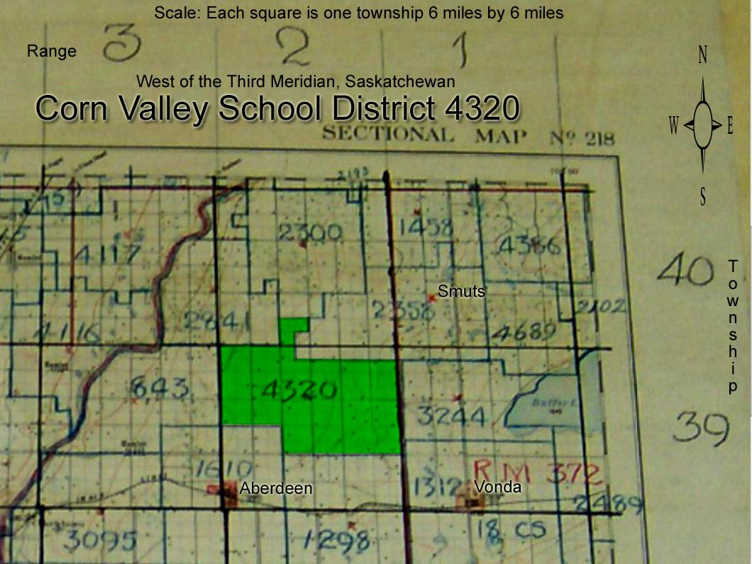 Corn Valley School District 4320, SE-28-39-2 W3 , 1920 - 1957, Aberdeen,