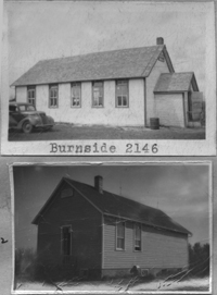 Burnside School District 2146, one room school house picture