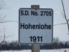 Hohenlohe school district 2705,1911,Located a few miles North and 1 mile East of Langenburg Saskatchewan,50' 53' 21 N 101'40' 23 W,Sec 11 Tsp 22 Rge 31 W of the 1 Meridian, Langenburg