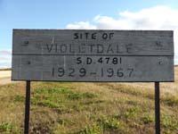 Violetdale School District 4781,. New NE quarter of section 18-township 40- range 16 w 2nd new school build on new location 1947, Old NE quarter of section 08- township 40-range 16 w 2nd original log building 1929 Spalding, SK