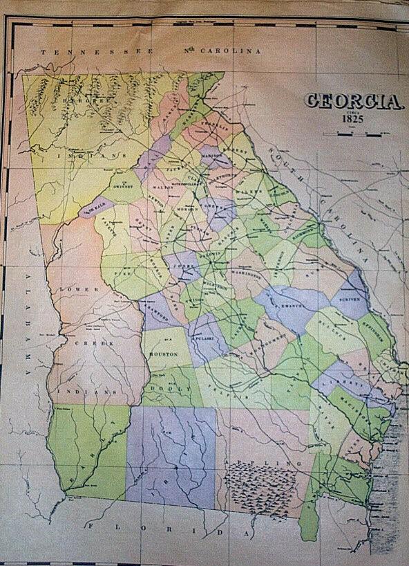 Map Of Old Georgia.Old Maps Of Georgia And Jasper County