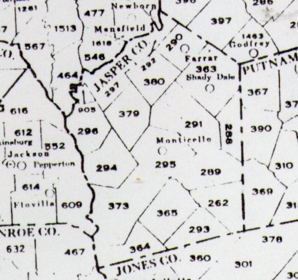 Map Of Georgia Militia Districts.Old Maps Of Georgia And Jasper County