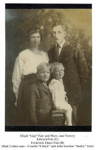 James Elijah Fair and Mary Jane Towery