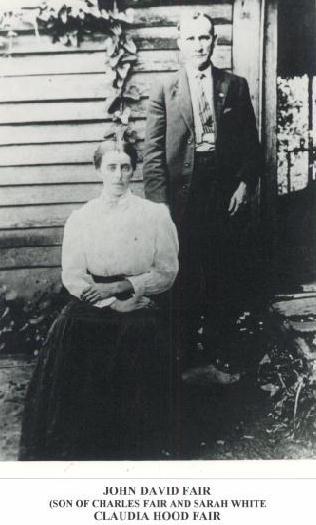 John David and Claudia (Hood) Fair