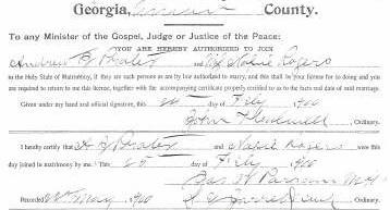 Marriage Certificate of Andrew E. Probst and Mabel Rogers