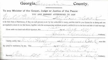 Marriage Certificate of Miles Head and Emma Cook
