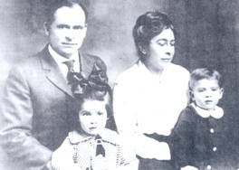 John Joseph Vandiver, wife, and children
