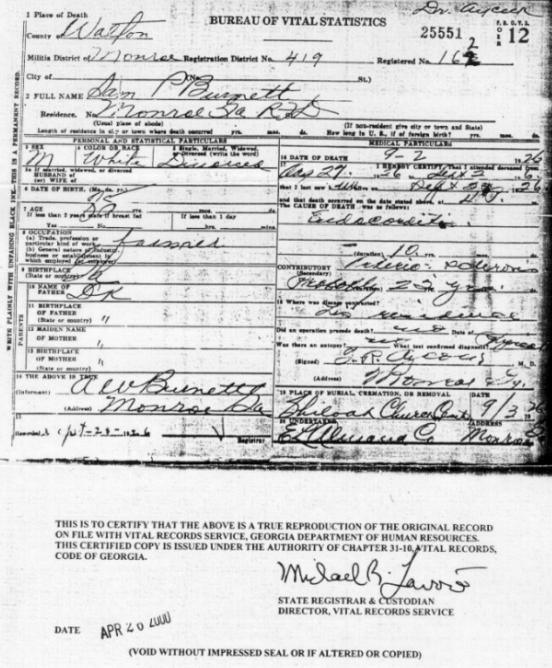 walton county ga death certificate