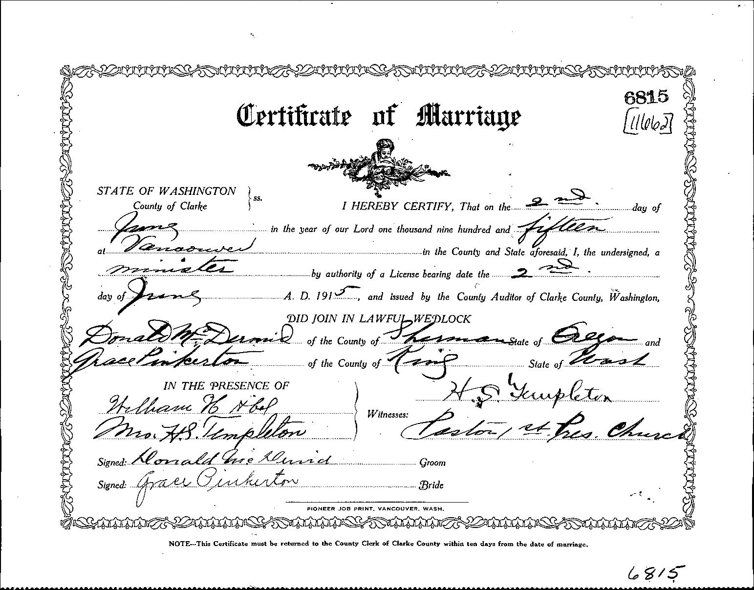 marriage license whatcom county washington