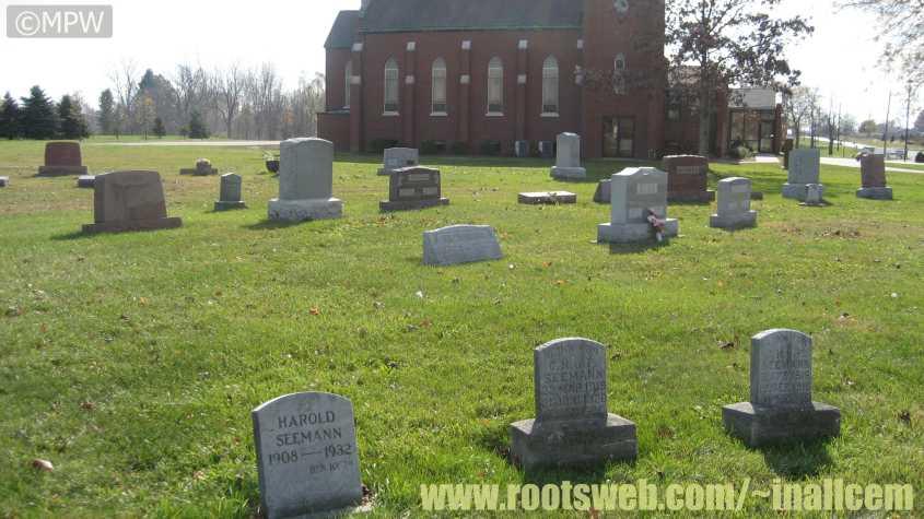 Milan Indiana Map.Saint Paul S Lutheran Cemetery Milan Township Allen County Indiana