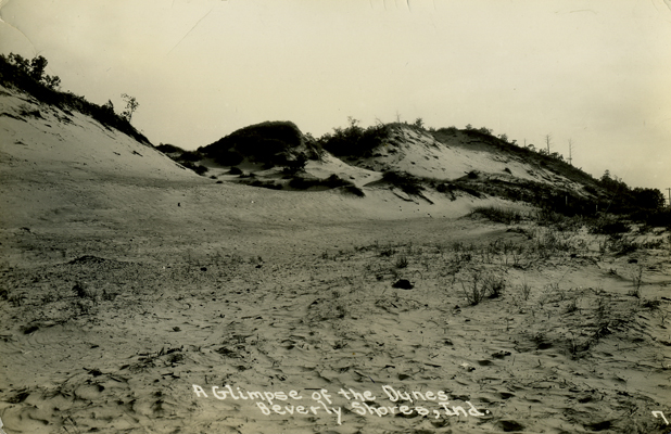 Le A Glimpse Of The Dunes Beverly Ss Ind Date Circa 1935 Publisher Defender 7 Postmark None Collection S Shook