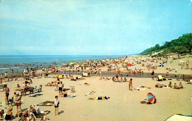Le Indiana Dunes State Park Chesterton A Sunny Afternoon On Lake Michigan Date Circa 1960s Publisher Harvey S Studio Dexter Press