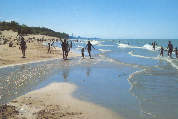 Le Sparkling Indiana Dunes State Park One Of The Finest Beach Areas On Lake Michigan At Chesterton Offers Miles Superb Sline