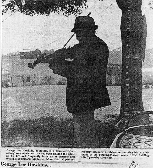 George Lee Hawkins at his daughters house.