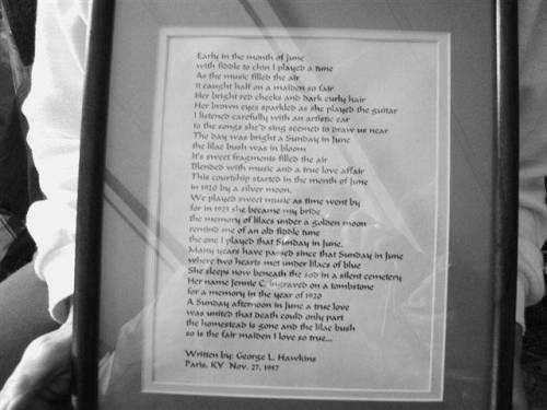 Poem written by George Lee Hawkins