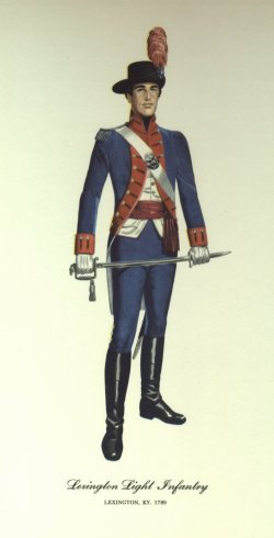 ky: lexington light infantry uniform 1789