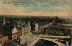 1910 birds eye view, lexington, kentucky