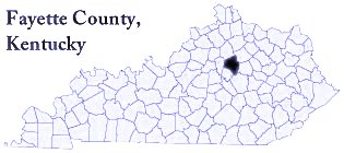small ky map showing fayette co location