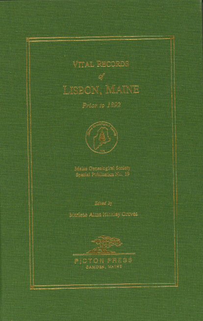 Vital Records of Lisbon, Maine before 1892