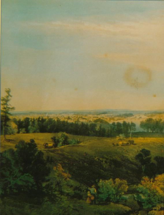 View from Danville (New Auburn) Maine Looking East to Lewiston, Maine in 1856