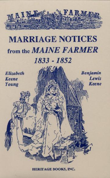 Marriages from the Maine Farmer (1833-1852) jpg