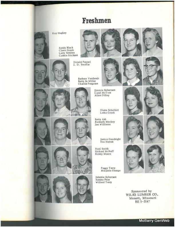 Purdy, 1959 Yearbook   Barry Co , MO