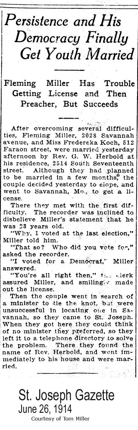 Buchanan County, Missouri Marriage Records
