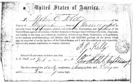 John Oliver Kelly Oat of Allegiance