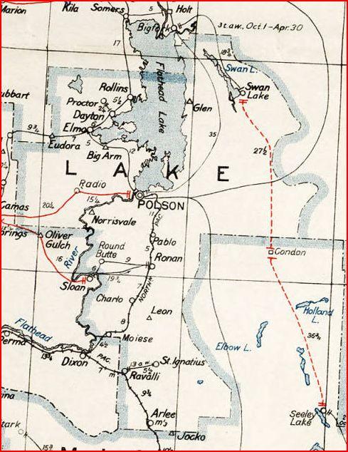 MTGenWeb Lake County, Montana, Place Names