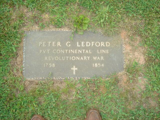 Tombstone of Peter G. Ledford, Revolutionary War Soldier