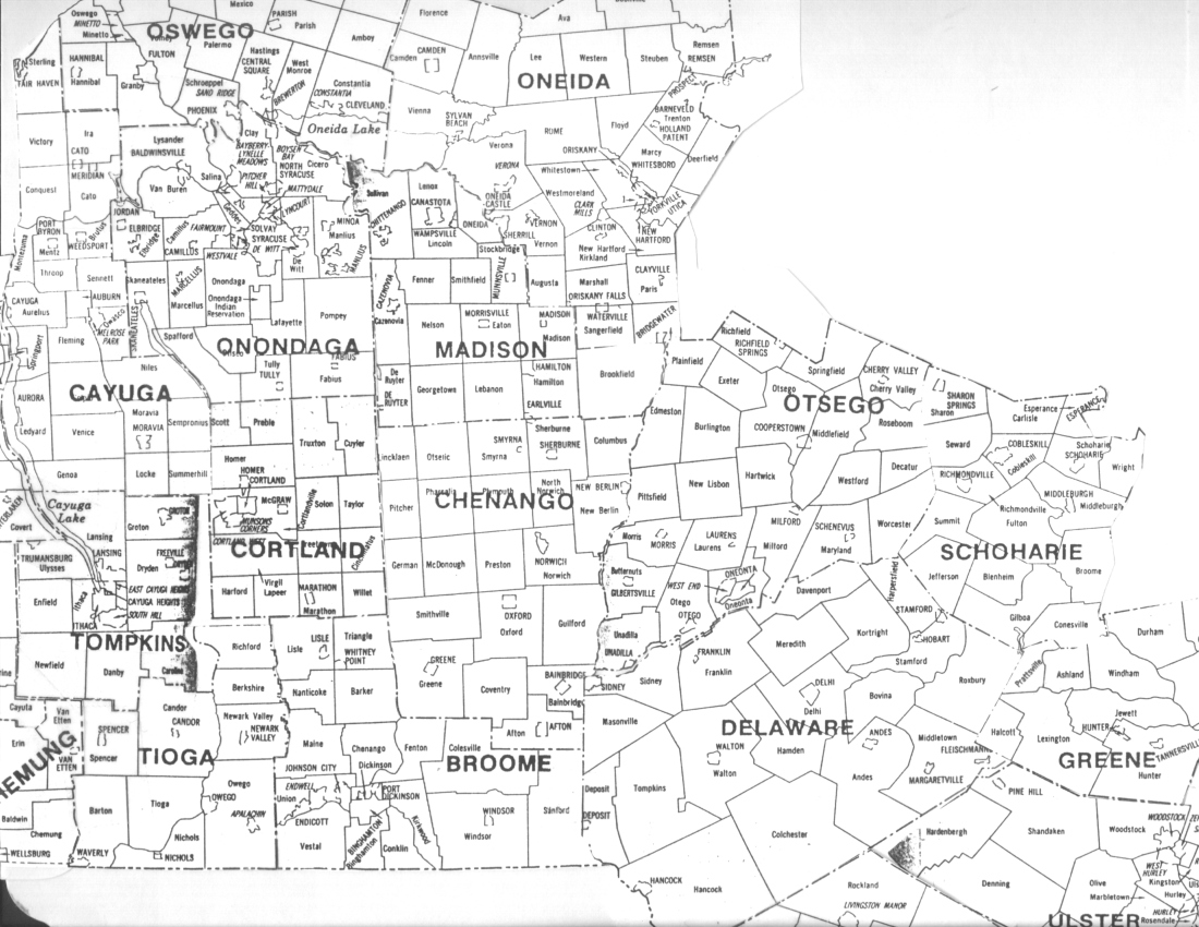 Map Of New York Towns.Map Of Towns In Central Ny