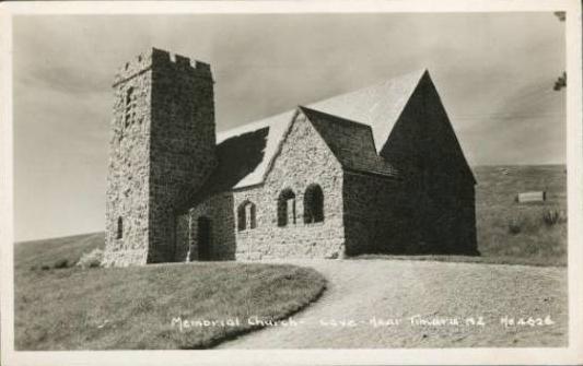 Churches at Cave, South Canterbury, New Zealand