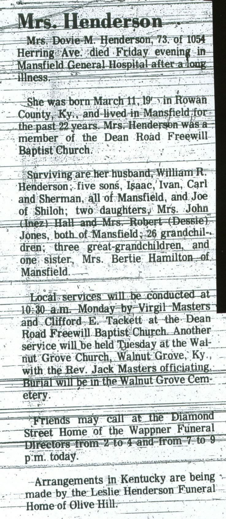 Obituaries & Death Notices: Ha - Hl