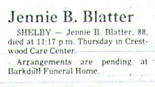 Obituaries & Death Notices: Bla - Bly