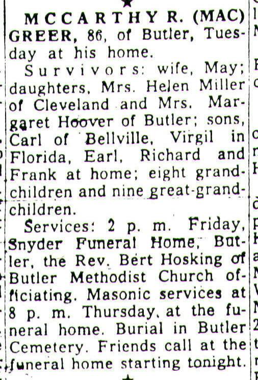 Obituaries & Death Notices: G