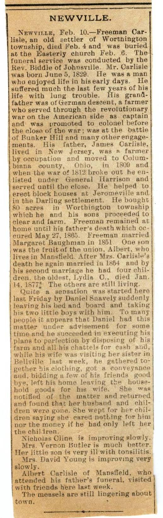 Obituaries & Death Notices: Ca - Cl
