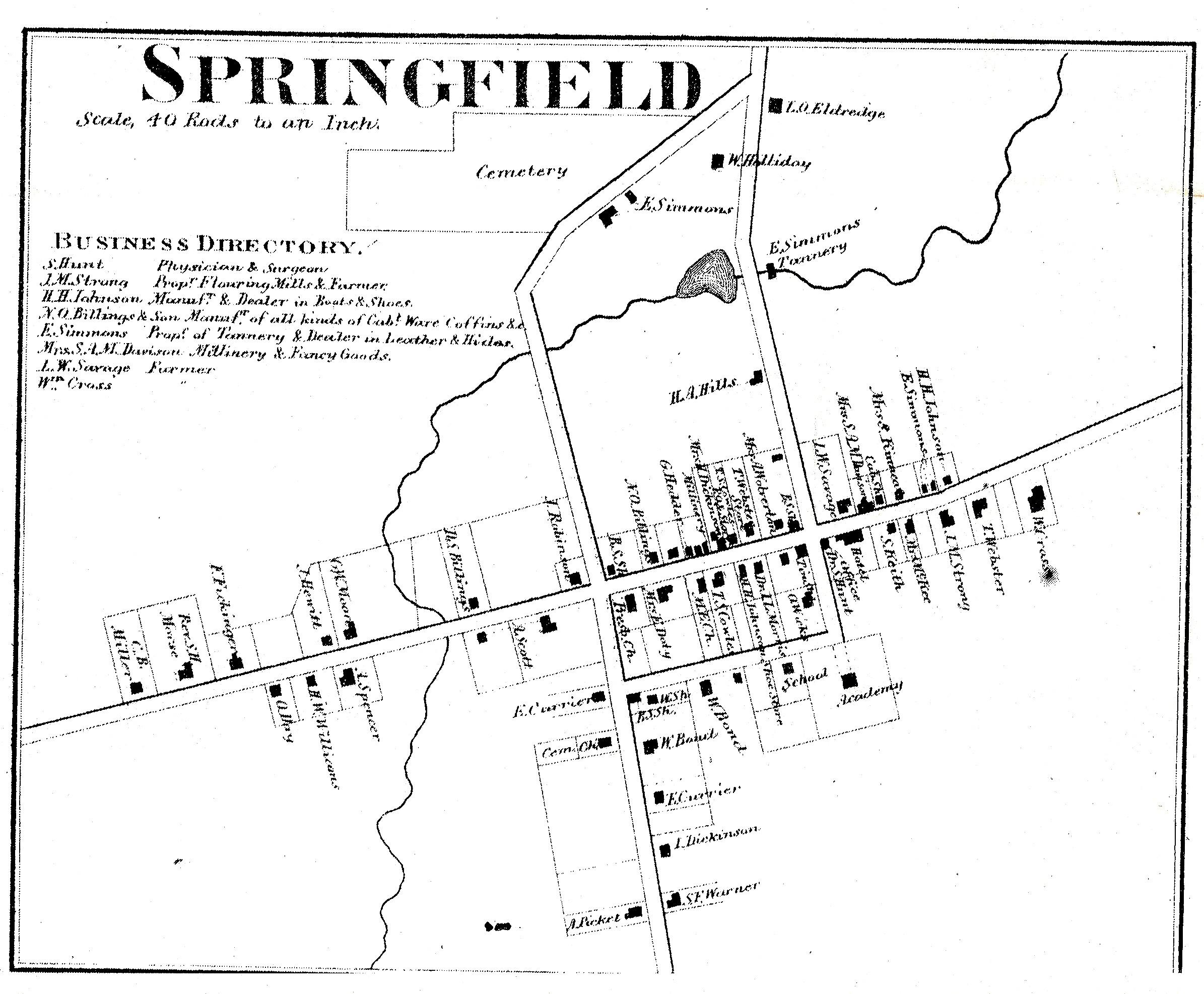 Springfield (town) Plat Map [BT05] on