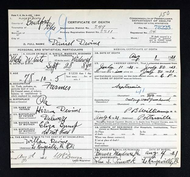 birth records for julia ann warner