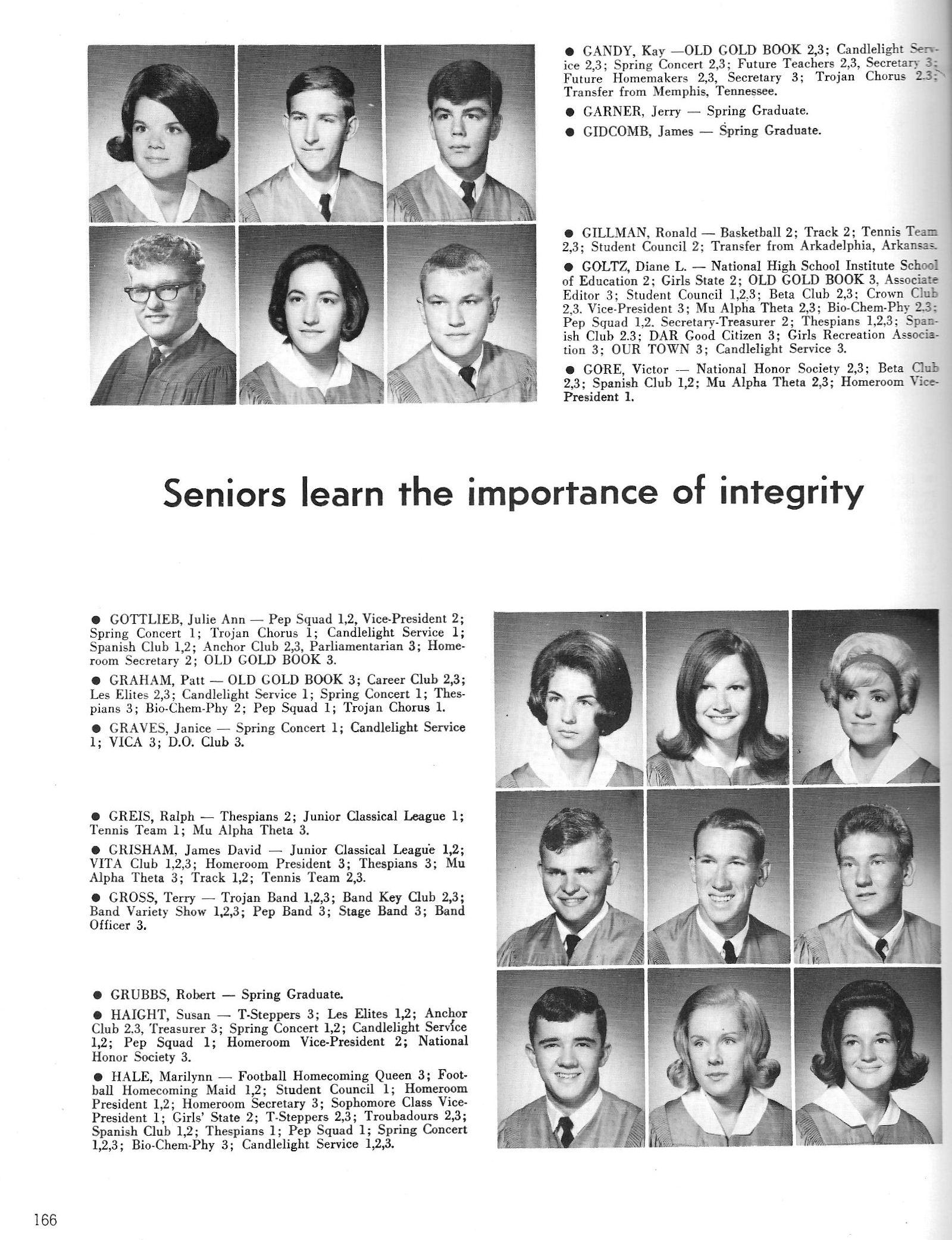 1967 Old Gold Book, Hot Springs, Arkansas, Yearbook