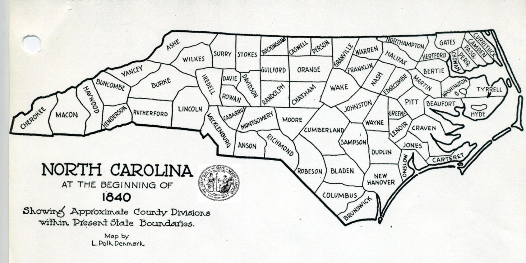 graphic regarding Printable Map of North Carolina Counties known as Some Early NC. Maps